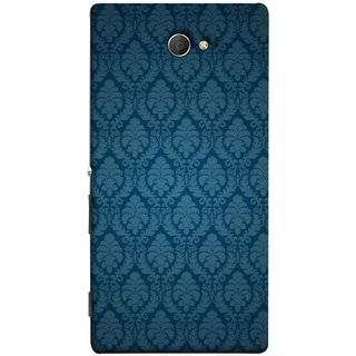 FUSON Designer Back Case Cover for Sony Xperia M2 Dual :: Sony Xperia M2 Dual D2302 (Blue Artwork Student Spots Amazing Plywood Table Cloth)