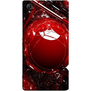 FUSON Designer Back Case Cover for Sony Xperia M4 Aqua :: Sony Xperia M4 Aqua Dual (Bold Red Design 3D Rendering Of Modern Abstract)
