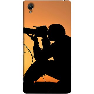 FUSON Designer Back Case Cover for Sony Xperia M4 Aqua :: Sony Xperia M4 Aqua Dual (Life Through A Lens Sunset Silhouette Camera Lens)