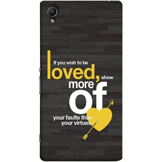 FUSON Designer Back Case Cover for Sony Xperia M4 Aqua :: Sony Xperia M4 Aqua Dual (Broken Heart Arrow Quotes Show More Your)