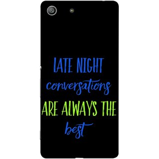FUSON Designer Back Case Cover for Sony Xperia M5 Dual :: Sony Xperia M5 E5633 E5643 E5663 (Late Night Talking Is Real And Best True Result Output)
