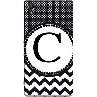 FUSON Designer Back Case Cover for Sony Xperia M4 Aqua :: Sony Xperia M4 Aqua Dual (Alphabets Dots Black Shade Wave Patterns White)