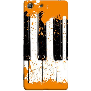 FUSON Designer Back Case Cover for Sony Xperia M5 Dual :: Sony Xperia M5 E5633 E5643 E5663 (Black And White Colour Splash Droplets Music )