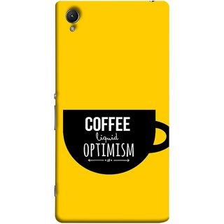 FUSON Designer Back Case Cover for Sony Xperia M4 Aqua :: Sony Xperia M4 Aqua Dual (Lost Bumblebee Right Coffee Fuel Buy Gourmet Coffee)