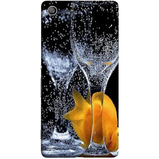 FUSON Designer Back Case Cover for Sony Xperia M5 Dual :: Sony Xperia M5 E5633 E5643 E5663 (3D Water Splash Illustration Fuzzy Bubbles Unique)