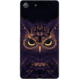 FUSON Designer Back Case Cover for Sony Xperia M5 Dual :: Sony Xperia M5 E5633 E5643 E5663 (Big Eye Danger Perfect Owl Bird Mysterious)
