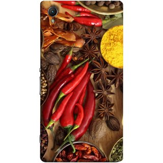 FUSON Designer Back Case Cover for Sony Xperia M4 Aqua :: Sony Xperia M4 Aqua Dual (Set Of Indian Spices On Wooden Table Powder Spices)
