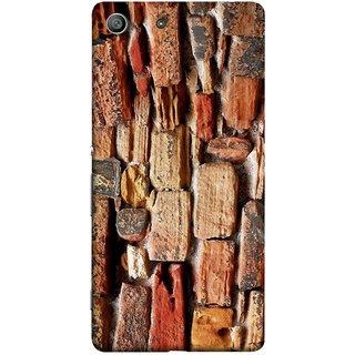 FUSON Designer Back Case Cover for Sony Xperia M5 Dual :: Sony Xperia M5 E5633 E5643 E5663 (Irregular Shapes Ancient Different Sizes Wallpaper)