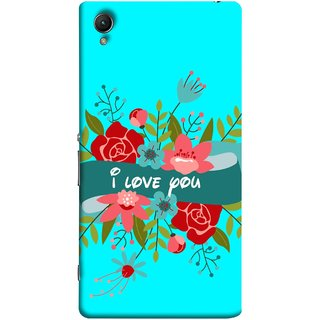 FUSON Designer Back Case Cover for Sony Xperia M4 Aqua :: Sony Xperia M4 Aqua Dual (Pink Red Wallpapers Flowers Lovers Boyfriends )