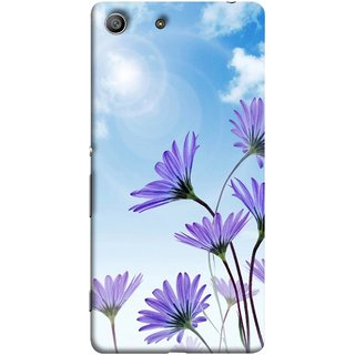 FUSON Designer Back Case Cover for Sony Xperia M5 Dual :: Sony Xperia M5 E5633 E5643 E5663 (Daisy Flower Garden Blue Sky White Clouds )