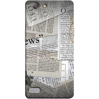 FUSON Designer Back Case Cover for Oppo Neo 7 :: Oppo A33 (Book Magazine Clippings Create Text-BasedNewspaper)