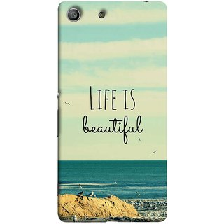 FUSON Designer Back Case Cover for Sony Xperia M5 Dual :: Sony Xperia M5 E5633 E5643 E5663 (Adorable Wallpapers Best Quotes Enjoy Together Happy)