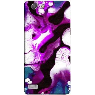 FUSON Designer Back Case Cover for Oppo Neo 7 :: Oppo A33 (Purple Painting Wallpaper White Iceberg River Flow)