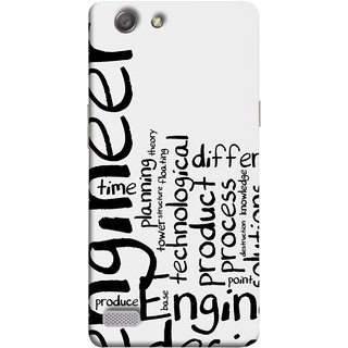 FUSON Designer Back Case Cover for Oppo Neo 7 :: Oppo A33 (Engineer Process Corporate Jobs Technical Solutions )