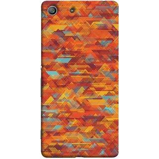 FUSON Designer Back Case Cover for Sony Xperia M5 Dual :: Sony Xperia M5 E5633 E5643 E5663 (Geometric Watercolour Art Print Pink Bright)