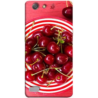 FUSON Designer Back Case Cover for Oppo Neo 7 :: Oppo A33 (Plump Dark Red Farm Fresh Very Tasty )