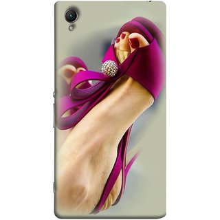 FUSON Designer Back Case Cover for Sony Xperia M4 Aqua :: Sony Xperia M4 Aqua Dual (Nice Shoes Design Red Nailpolish Womens Girls Females )