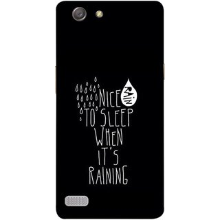 FUSON Designer Back Case Cover for Oppo Neo 7 :: Oppo A33 (Raining Raindrops Rainy Season Weather Baarish Snacks Drink)