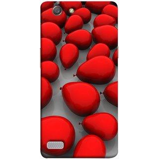 FUSON Designer Back Case Cover for Oppo Neo 7 :: Oppo A33 (Balloons Red Love Dark Gift Motivational)