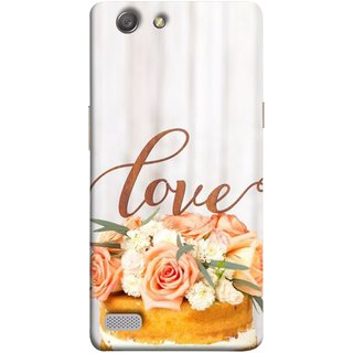 FUSON Designer Back Case Cover for Oppo Neo 7 :: Oppo A33 (Cake Pink Rose Birthday & Decoration Ceremony Lily)