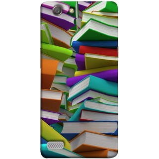 FUSON Designer Back Case Cover for Oppo Neo 7 :: Oppo A33 (Stack Of Colorful Books White Pages School)