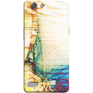 FUSON Designer Back Case Cover for Oppo Neo 7 :: Oppo A33 (Architect Design Wood Pattern Curvilinear Plan Year)