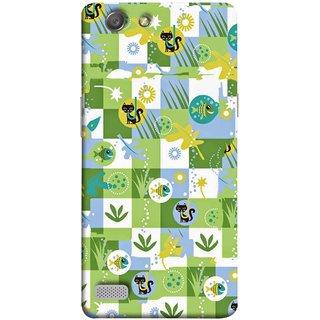 FUSON Designer Back Case Cover for Oppo Neo 7 :: Oppo A33 (Pillow Bedsheet Designs Fish Grass Cat Yellow Flower Pattern)