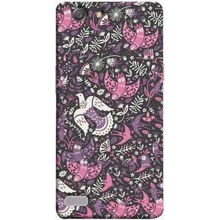 FUSON Designer Back Case Cover for Oppo Neo 7 :: Oppo A33 (Pink White Beige Colour Leaves Flowers Walldesign Gift )