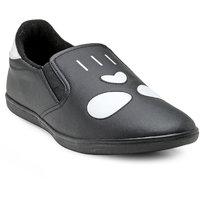 Franco Leone Men'S Black Slip On Casual Shoes