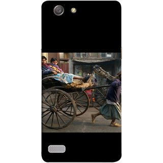 FUSON Designer Back Case Cover for Oppo Neo 7 :: Oppo A33 (Wheel Hay Cart Old Wagons Indian Cycle Rickshow)