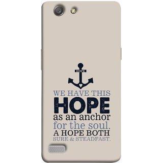 FUSON Designer Back Case Cover for Oppo Neo 7 :: Oppo A33 (A Hope Both Sure And Steadfast Deep Sea Anchor Ship)