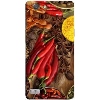 FUSON Designer Back Case Cover for Oppo Neo 7 :: Oppo A33 (Set Of Indian Spices On Wooden Table Powder Spices)
