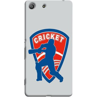 FUSON Designer Back Case Cover for Sony Xperia M5 Dual :: Sony Xperia M5 E5633 E5643 E5663 (County Cricket India Aus England Bat Ball Batsman)