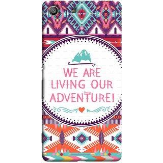 FUSON Designer Back Case Cover for Sony Xperia M5 Dual :: Sony Xperia M5 E5633 E5643 E5663 (Colourful Wallpaper Best Quotes Bright Wall Design)