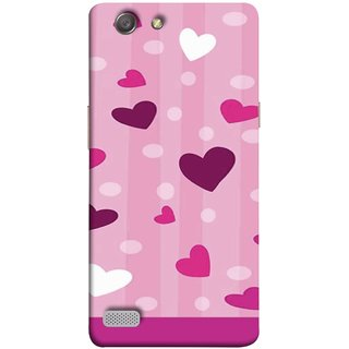 FUSON Designer Back Case Cover for Oppo Neo 7 :: Oppo A33 (Always I Love You Red Hearts Couples Together Valentine)