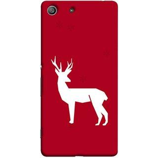 FUSON Designer Back Case Cover for Sony Xperia M5 Dual :: Sony Xperia M5 E5633 E5643 E5663 (Illustration Silhouette Majestic Standing Reindeer)
