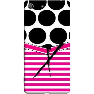 FUSON Designer Back Case Cover for Sony Xperia M5 Dual :: Sony Xperia M5 E5633 E5643 E5663 (Beautiful Cute Nice Couples Pink Design Paper Girly)