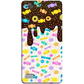 FUSON Designer Back Case Cover for Oppo Neo 7 :: Oppo A33 (Candies Candy Chocolate Marshmallo Colourful Child)
