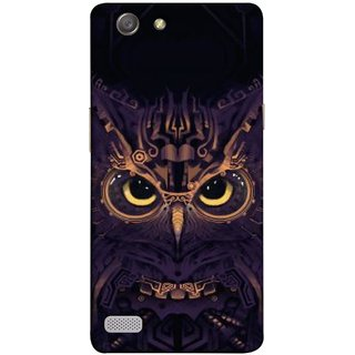 FUSON Designer Back Case Cover for Oppo Neo 7 :: Oppo A33 (Big Eye Danger Perfect Owl Bird Mysterious)