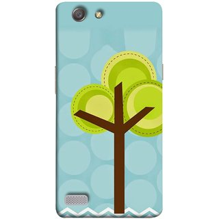 FUSON Designer Back Case Cover for Oppo Neo 7 :: Oppo A33 (Brown Branches Hand Artwork Green Leaves Water )
