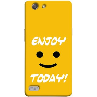 FUSON Designer Back Case Cover for Oppo Neo 7 :: Oppo A33 (Big Smiley Smiling Positive Wallpaper Back Cover)