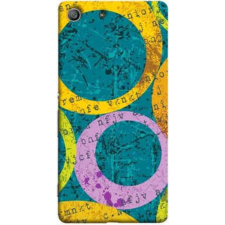 FUSON Designer Back Case Cover for Sony Xperia M5 Dual :: Sony Xperia M5 E5633 E5643 E5663 (Nila Pila Circles Tiles Bright Cool Typography )