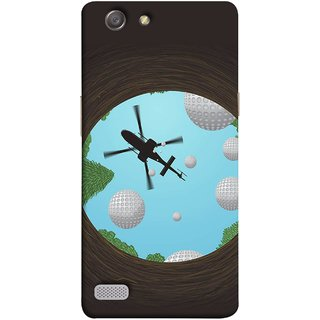 FUSON Designer Back Case Cover for Oppo Neo 7 :: Oppo A33 (Military Tree Cave Trees Army White Bubbles Closeup)