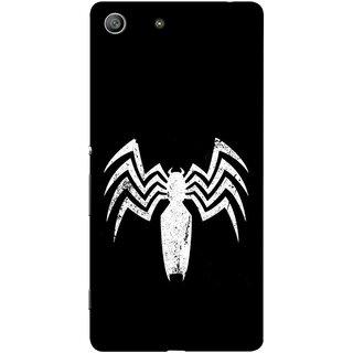 FUSON Designer Back Case Cover for Sony Xperia M5 Dual :: Sony Xperia M5 E5633 E5643 E5663 (Spiderman Logo Catwoman Dc Comics Parker)