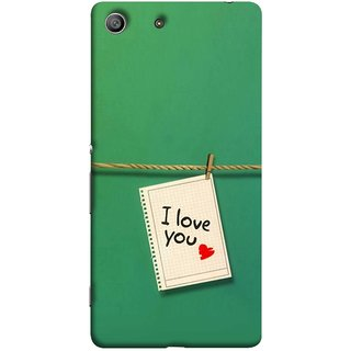 FUSON Designer Back Case Cover for Sony Xperia M5 Dual :: Sony Xperia M5 E5633 E5643 E5663 (You Message Card Over Red Wooden Board Stock Photos)