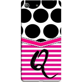 FUSON Designer Back Case Cover for Sony Xperia M5 Dual :: Sony Xperia M5 E5633 E5643 E5663 (Beautiful Cute Nice Couples Pink Design Paper Girly Q)