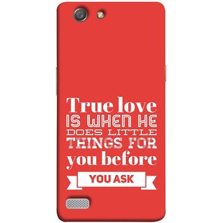 FUSON Designer Back Case Cover for Oppo Neo 7 :: Oppo A33 (Ture Love When Before Ask Care Love Hearts)