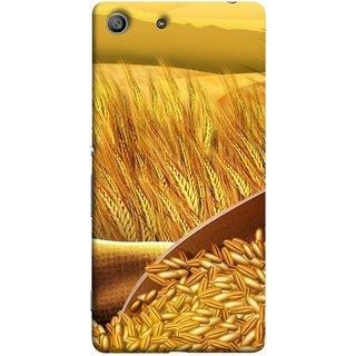 FUSON Designer Back Case Cover for Sony Xperia M5 Dual :: Sony Xperia M5 E5633 E5643 E5663 (Wheat Farmers Farms Morning Sunlight Bright Day)