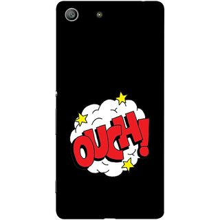 FUSON Designer Back Case Cover for Sony Xperia M5 Dual :: Sony Xperia M5 E5633 E5643 E5663 (Nice Words Lag Gayi God Bless Ohhh White Cloud Stars )