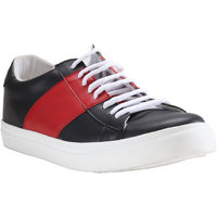 Franco Leone Men'S Black,Red Lace-Up Casual Shoes